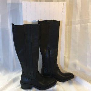NEW! Calvin Klein Raelin 2 Tumbled knee high boots